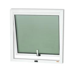 Janela Maxim-Ar em Alumínio Confort com Vidro Boreal 60x60cm Branco Brilhante - Brimak