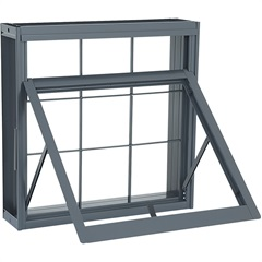 Janela Maxim-Ar sem Divisão com Grade Quadriculada Silenfort 60x60x14cm Cinza - Sasazaki