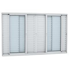 Janela Veneziana Central Alumifort 120,5x200,5cm Branca - Sasazaki