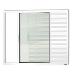 Janela Veneziana de Correr com 3 Folhas em Alumínio Confort 120x150cm Branca - Brimak