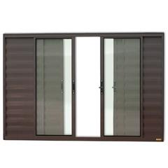 Janela Veneziana em Alumínio Confort 6 Folhas sem Grade 100x200cm Marrom - Brimak