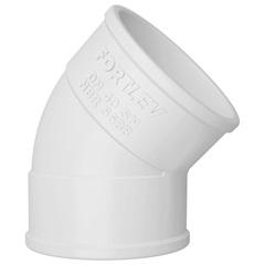 Joelho 45° em Pvc para Esgoto 40mm Branco - Fortlev