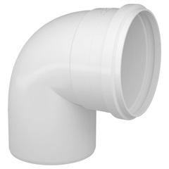 Joelho 90° em Pvc para Esgoto 100mm Branco - Fortlev