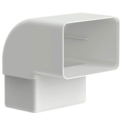 Joelho 90° Retangular Aquapluv Style Branco - Tigre