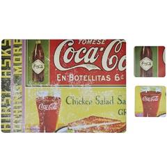Jogo Americano E Porta Copos Coca-Cola En Botellitas - Urban