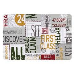 Jogo Americano Pvc Print Passport 28x44cm - Copa & Cia