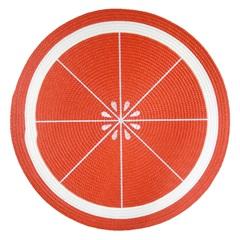 Jogo Americano Redondo Frutas Laranja 38cm - Top Flex