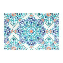 Jogo Americano Textilene 45 X 30cm Arte Mandala Verde - Uzoo