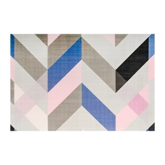 Jogo Americano Textilene 45x30cm Abstrato Diagonal Rosa - Uzoo