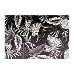 Jogo Americano Textilene 45x30cm Arte Folhas Preto E Branco - Uzoo