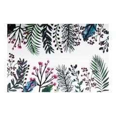 Jogo Americano Textilene 45x30cm Arte Folhas Verde E Frutos - Uzoo