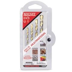Jogo de Brocas Multiúso 4 Peças de 4 a 8mm - Rocast