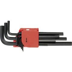 Jogo de Chaves Allen Longa 1,5 a 10mm com 9 Peças Preto E Vermelho - MTX