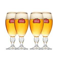Jogo de Copo em Vidro Stella Artois 250ml Transparente 4 Peças - Pasabache