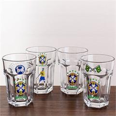 Jogo de Copos de Cerveja em Vidro Country Brasil 400ml com 4 Peças - Casa Etna