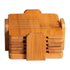 Jogo de Porta Copo Quadrado Vazado Rust Grate com 6 Peças - Casa Etna