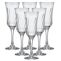 Jogo de Taças para Champagne Lírio 195ml com 6 Peças - Nadir