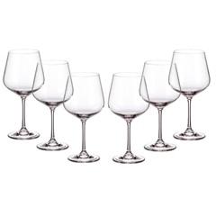 Jogo de Taças para Vinho Burgundy em Cristal Strix 600ml Transparente com 6 Peças - Cristais Bohemia