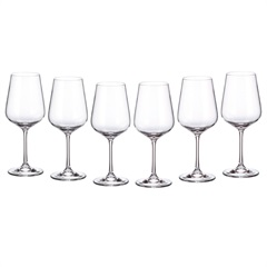 Jogo de Taças para Vinho Tinto em Cristal Strix 450ml Transparente com 6 Peças - Cristais Bohemia