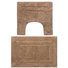 Jogo de Tapetes para Banheiro em Algodão Ágra 40x60cm com 2 Peças Caramelo - Jolitex