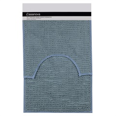 Jogo de Tapetes para Banheiro Popcorn 40x60cm Azul Claro - Casanova
