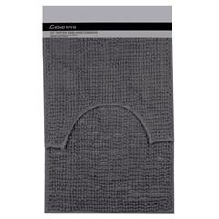 Jogo de Tapetes para Banheiro Popcorn 40x60cm Cinza - Casanova