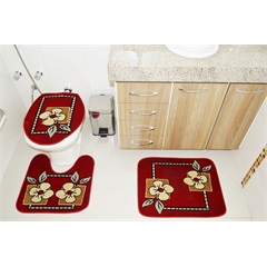 Jogo de Tapetes para Banheiro Royal com 3 Peças  - Rayza