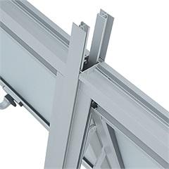 Junção para Janela Maxim-Ar Vertical Prátika 60x2,6x8,4cm Branca - Sasazaki