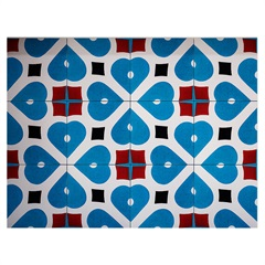 Kit Adesivo Ladrilho Flor Geométrica 20x20cm Azul E Laranja com 18 Peças - Casa Etna