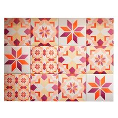 Kit Adesivo Ladrilho Floral 20x20cm Rosa com 18 Peças - Casa Etna