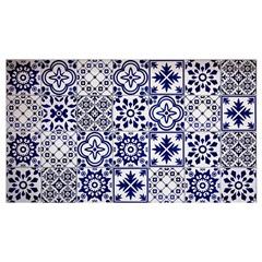 Kit Adesivo Ladrilho Português 15x15cm Azul com 18 Peças - Casa Etna