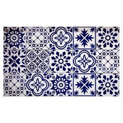 Kit Adesivo Ladrilho Português 20x20cm Azul com 18 Peças