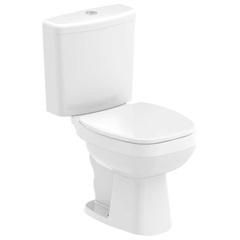 Kit Bacia com Caixa Acoplada City 3/6 Litros + Assento Sanitário Soft Close em Polipropileno Branco - Celite