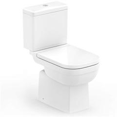 Kit Bacia com Caixa Acoplada E Assento Sanitário Soft Close Elite Branco