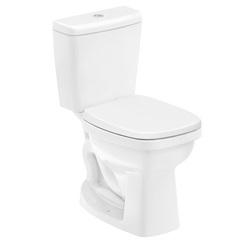 Kit Bacia com Caixa Acoplada Like 3/6 Litros + Assento Sanitário em Polipropileno Branco