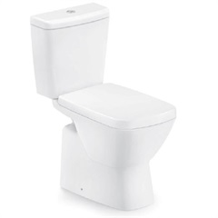 Kit Bacia com Caixa Acoplada Suite 3/6 Litros + Assento Sanitário Soft Close em Polipropileno Branco - Incepa
