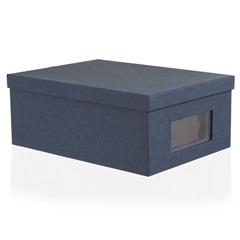 Kit Caixa Organizadora Office Azul com 2 Peças - Casa Etna