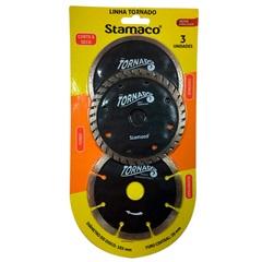 Kit com 3 Discos Tornado para Serra Mármore - Stamaco