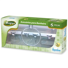 Kit de Acessório para Banheiro Magnus com 6 Peças Verde - Expambox
