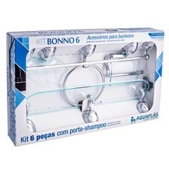 Kit de Acessórios para Banheiro Bonno com 6 Peças Verde - Aquaplás
