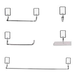 Kit de Acessórios para Banheiro Celite One Cromado com 5 Peças - Celite