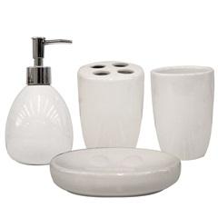 Kit de Acessórios para Banheiro com 4 Peças Branco - Casanova