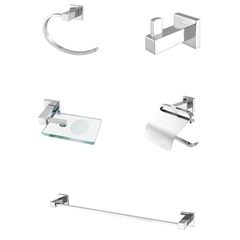 Kit de Acessórios para Banheiro com 5 Peças 501 C 34 Athena Cromado - Meber