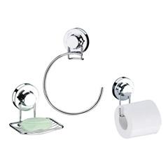 Kit de Acessórios para Banheiro com Ventosa 3 Peças - Future