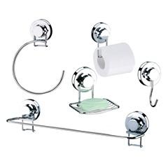 Kit de Acessórios para Banheiro com Ventosa 5 Peças - Future