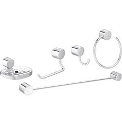 Kit de Acessórios para Banheiro Flex com 5 Peças Cromado - Deca
