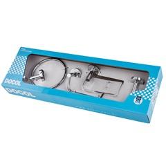 Kit de Acessórios para Banheiro Hope com 5 Peças Cromado - Docol