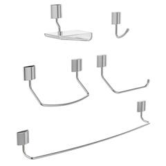 Kit de Acessórios para Banheiro Neo com 5 Peças Cromado - Blukit