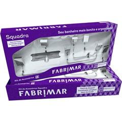 Kit de Acessórios para Banheiro Squadra com 5 Peças Cromado - Fabrimar