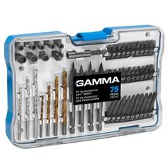 Kit de Acessórios para Furadeira E Parafusadeira com 75 Peças - Gamma